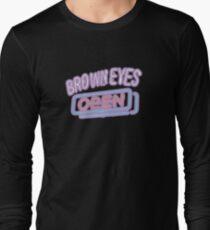Brown Eyes - OPEN Long Sleeve T-Shirt