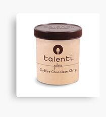 Coffee Chocolate Chip Talenti Canvas Print