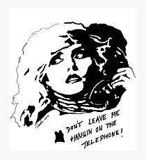 Debby Harry Blondie Hanging on The Telephone by Pasha du Valentine Photographic Print