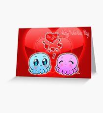 True Love: Tako-Chan V Day Card Greeting Card