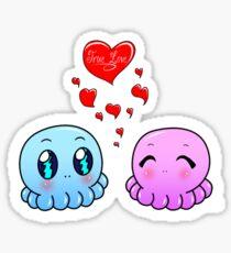 True Love: Tako-Chan V Day Shirt Sticker