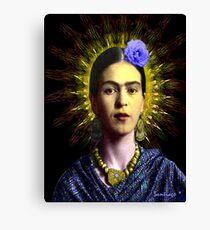 Frida Kahlo with Halo (of a sort) - V2 Canvas Print