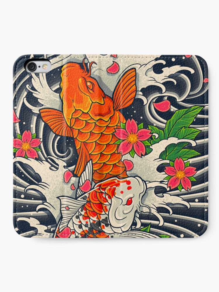 Alternate view of Koi Fish Pond  iPhone Wallet