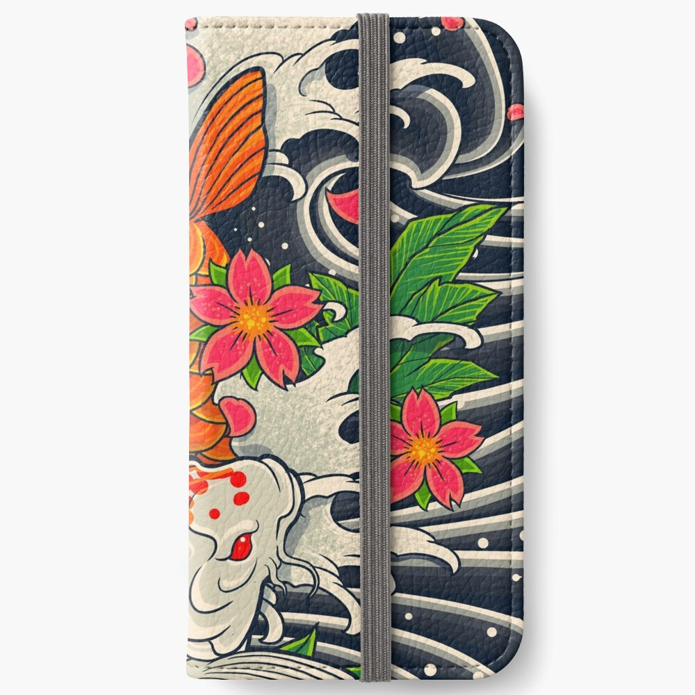 Koi Fish Pond  iPhone Wallet