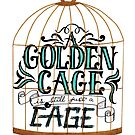 A Golden Cage Hand Lettering by madebymarzipan