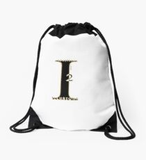 Industrial Illusions Inc. Logo (Black) Drawstring Bag