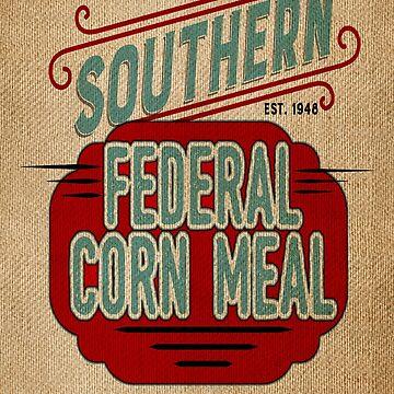 Burlap Grain Sack / Feed Sack / Vintage Style Graphics by marceejean