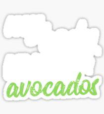 My Body Runs On Avocados Keto Diet Sticker