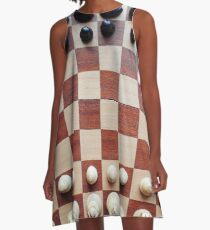 Chessboard, chess pieces A-Line Dress