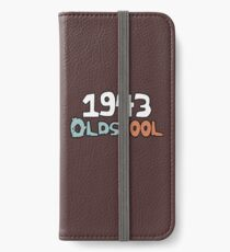 1943 Oldscool 75 Jähriges Geburtstags-Geschenk-kühle alte Leute iPhone Flip-Case/Hülle/Skin