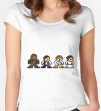 8 bit SW lineup Women's Fitted Scoop T-Shirt