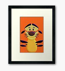 Cute Smiley Cat Framed Print