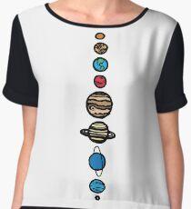 Planets Colour Chiffon Top