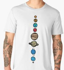 Planets Colour Men's Premium T-Shirt