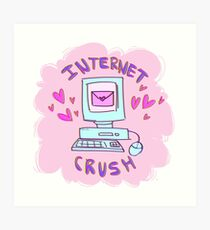 internet crush tumblr aesthetic Art Print