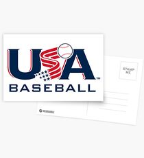 USA Baseball Logo V2 Postcards