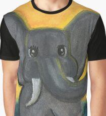 Pensive Pachyderm Graphic T-Shirt