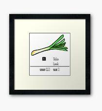 Take Leek Framed Print