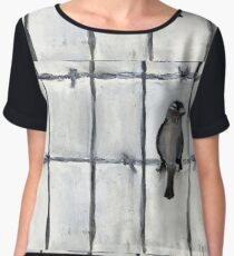 Bird (On A Barbed) Wire Chiffon Top