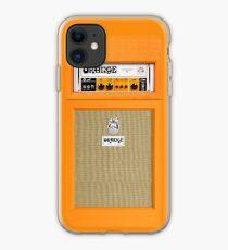 Orange color amp amplifier iPhone Case