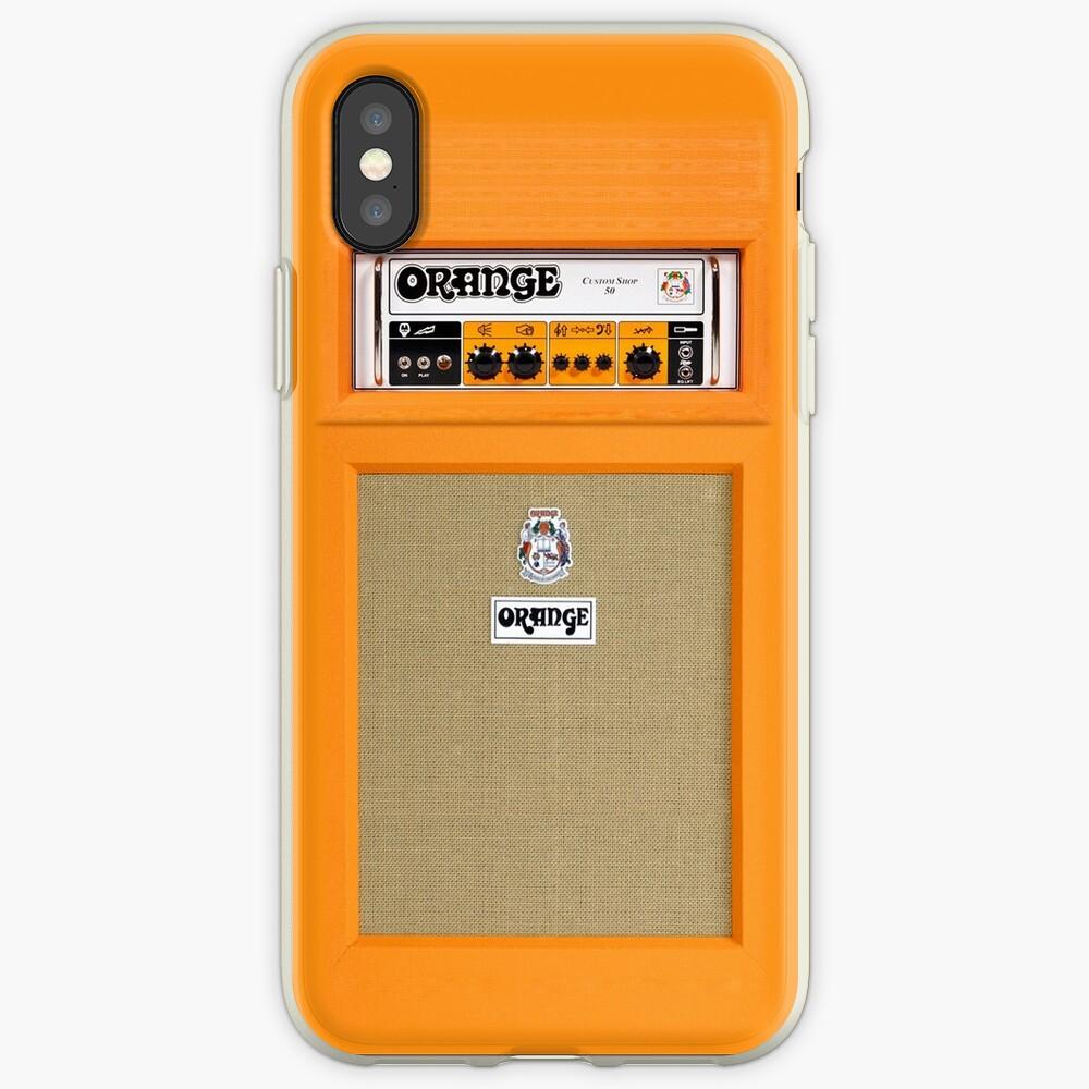 Orange Farbverstärker iPhone-Hüllen & Cover