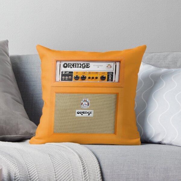 Orange color amp amplifier Throw Pillow