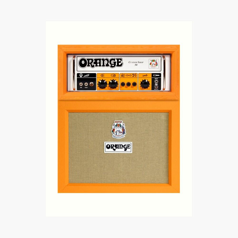 Orange Farbverstärker Kunstdruck