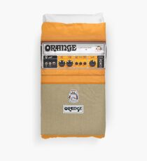 Orange color amp amplifier Duvet Cover