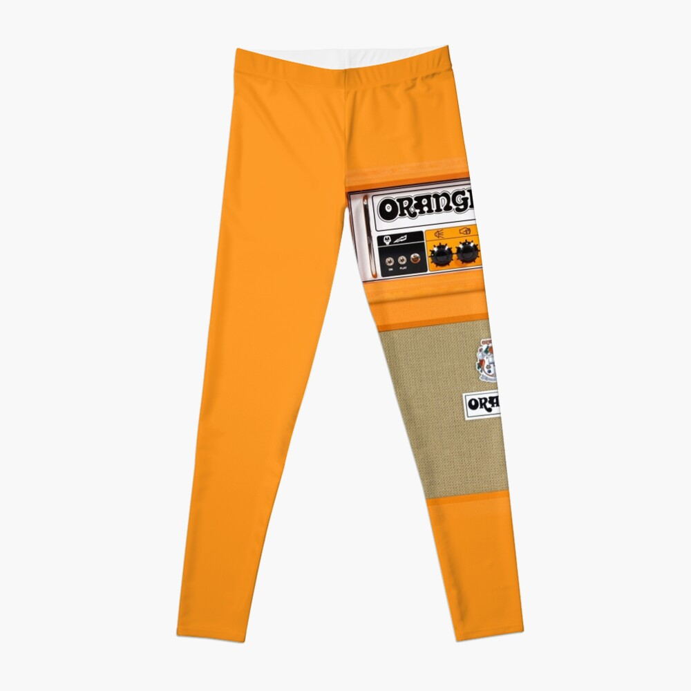 Amplificador de amplificador de color naranja Leggings