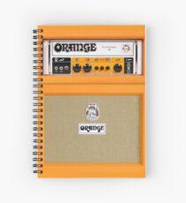 Orange color amp amplifier Spiral Notebook