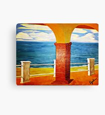 Ocean View Under the Arch Canvas Print
