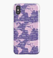 Hello World Languages Violet Lavender  iPhone Case/Skin