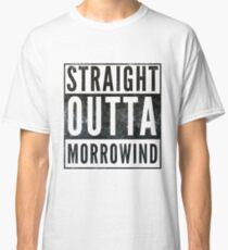 Straight Outta Morrowind (white bg) Classic T-Shirt