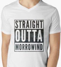 Straight Outta Morrowind (white bg) Men's V-Neck T-Shirt