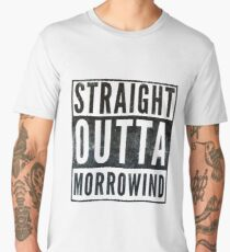 Straight Outta Morrowind (white bg) Men's Premium T-Shirt
