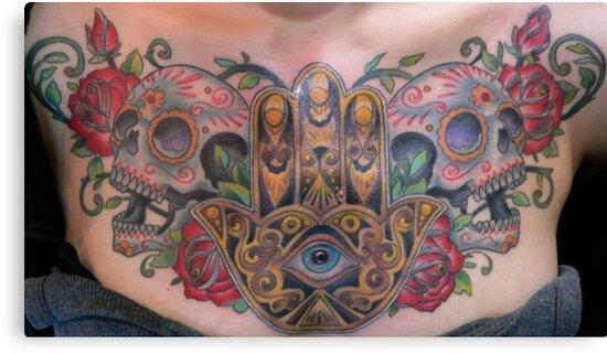 Mano De Fatima Tatuajes A Color Hand Of Fatima Jamsa Khamsa