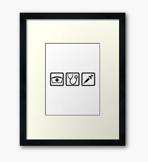 Nurse equipment Framed Print
