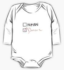 Body de manga larga para bebé bailarina no humana - en rosa claro