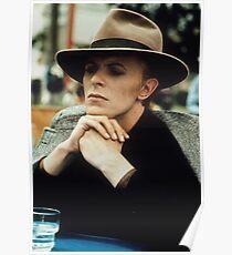David Bowie Fedora Poster
