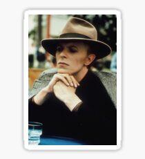 David Bowie Fedora Sticker