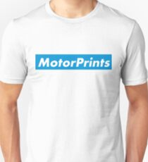 MotorPrints (blue) Unisex T-Shirt