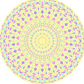 Mandala-Yellow by Black-kat