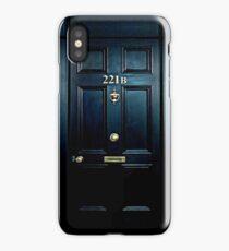 Haunted Blue Door with 221b number iPhone Case/Skin