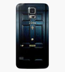 Haunted Blue Door mit 221b Nummer Hülle & Klebefolie für Samsung Galaxy