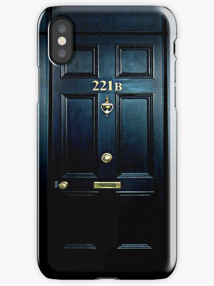 Haunted Blue Door with 221b number by Galih Sanjaya Kusuma wiwaha