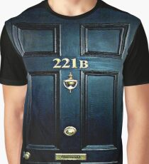 Haunted Blue Door with 221b number Graphic T-Shirt