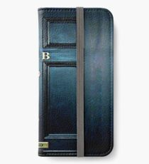 Haunted Blue Door with 221b number iPhone Wallet/Case/Skin