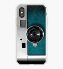 Blue camera with germany lens iPhone Case