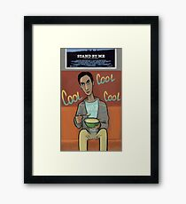Abed watching tv Framed Print