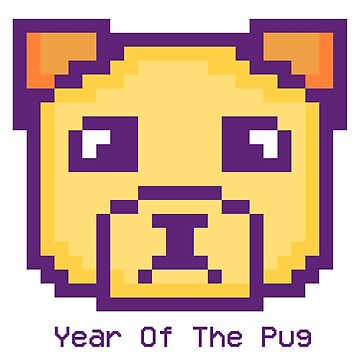 Pixel Pug: Sad Puppy ( Year of the Pug ) by FTMLand